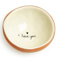 Natural Life 'I Love You' Ceramic Trinket Dish
