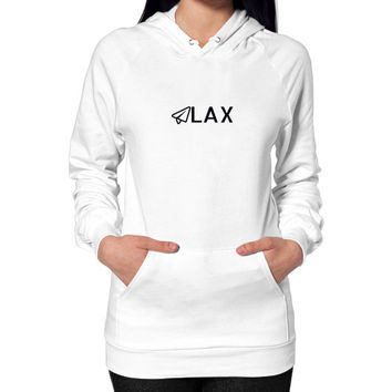 LAX Hoodie (on woman)