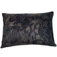 Geisha Moon Black Pillow Cases