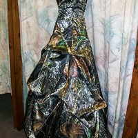 Custom Made in the USA CAMO PICK UP Prom Wedding Bridesmaids Dress