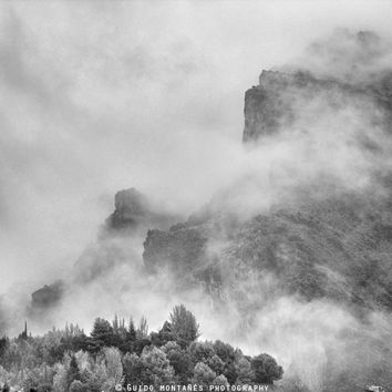 """The mountains are calling to me"". BW. Square by Guido Montañés"
