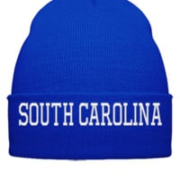 SOUTH CAROLINA EMBROIDERY HAT - Beanie Cuffed Knit Cap