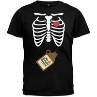 Growler Baby Pregnant Skeleton Halloween Costume T-Shirt