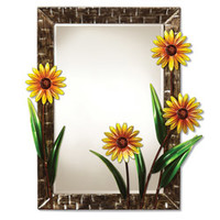Deco Breeze 'Daisies' Wall Mirror
