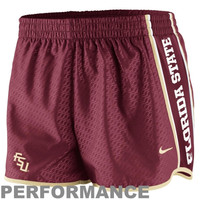 Nike Florida State Seminoles :FSU: Womens Chainmaille Pacer Performance Shorts - Garnet