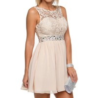 Champagne Dream Lace Dress