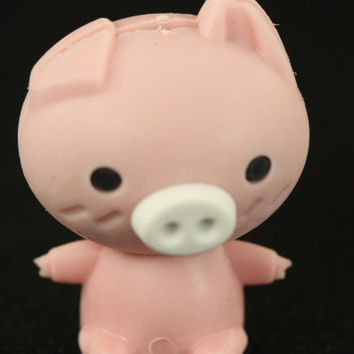 Pink Pig With White Snout Eraser
