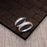 Adjustable couple ring LOVE ring + Gift box ALQ1022R