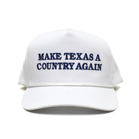 Make Texas A Country Again Classic Rope Hat - White