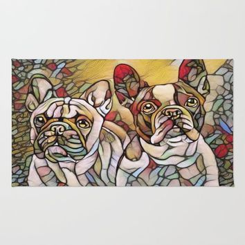 bulldogs Rug by Girly Inspired Gifts