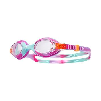 TYR - Swimples Pink Mint Tie Dye Swim Goggles / Clear Lenses