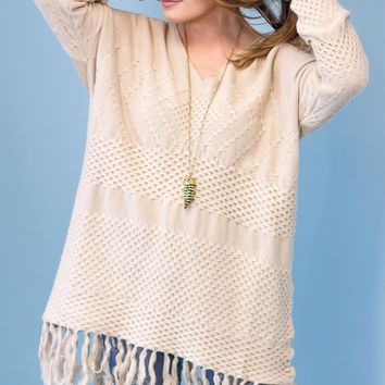 Bloomfield Fringe Sweater Tunic