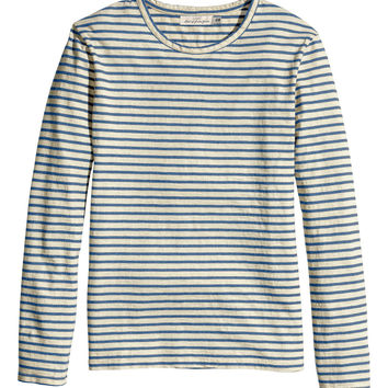 H&M - Long-sleeved T-shirt - Blue - Men