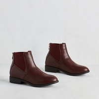 Menswear Inspired Boston to Austin Bootie in Burgundy