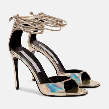 Lace Up Heeled Sandals - Stella Mccartney