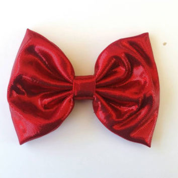 Girls sparkly ruby red fabric hair bow, sparkly hair bows, ruby red fabric hair bow, girls hair bow, girls hair barrette, simple hair bow