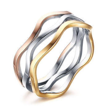 Gorgeous Multilayered Colored Ring
