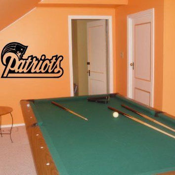 Wall Decal NFL New England Patriots 005 FRST
