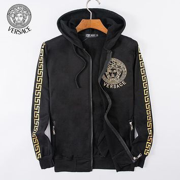 Versace Fashion Casual Cardigan Jacket Coat Hoodie