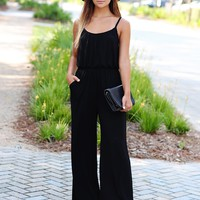 Black PIKO Cinched Waist Jumpsuit