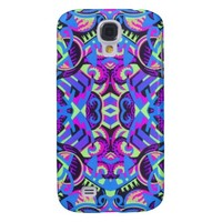 Excrutiatingly Colorful Art Deco Psychedelic Samsung Galaxy S4 Cover