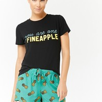 Pineapple Print Pajama Set