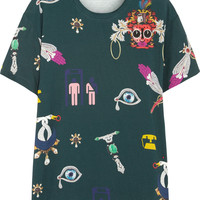 Mary Katrantzou - Printed stretch-jersey T-shirt