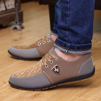 2016 Spring Brand Men Shoes Casual Lace up Canvas Men Flat Shoes Low Breathable Suede Classic casual shoes