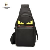 ETONWEAG Crossbody Bags for Men and Women Fashion Messenger Chest Bag Casual Waterproof Nylon Single Shoulder Strap Daypack