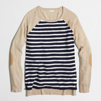 Factory side-button elbow-patch sweater in stripe : Sweaters | J.Crew Factory