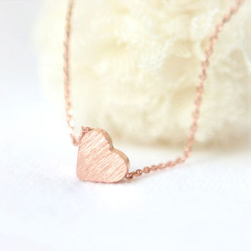 Back to the Basic-Tiny heart Necklace in pink gold