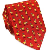 Elf Ducks Tie in Red by Bird Dog Bay