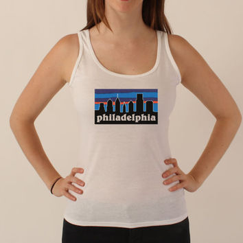 Philadelphia Patagonia - Philly Skyline Tank Top Shirt - All Sizes Available - 032