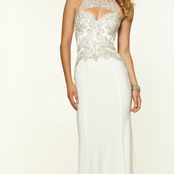 Mori Lee High Neck Prom Dress