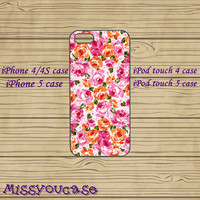 iPhone 4 Case,iPhone 5 Case,iPhone 4S Case,Cute iPhone 5 Case,iPod 4 Case,iPod 5 Case,Blackberry Q10,Z10 Case--Flower,in Plastic,Silicone.