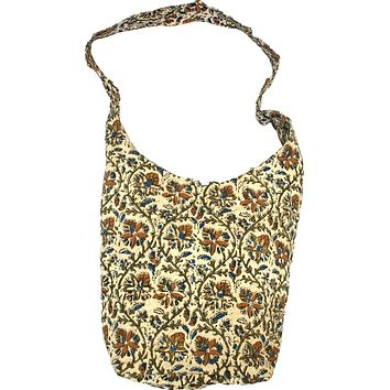 Handmade Cotton Kalamkari Block Print Hobo Shopping Work Tote Bag 14x14