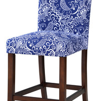 Burgos 24-inch Blue Floral Counter Stool Set (Set of 2)