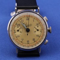Stunning Bovet Chronograph 1940's Original Two Register Must See Rare No Reserve