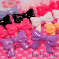 FUNKY VINTAGE STYLE LARGE BOW EARRINGS CUTE KITSCH RETRO RIBBON KNOT FASHION EMO