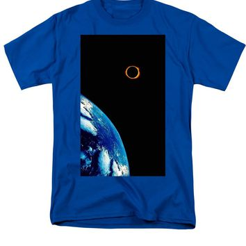 Solar Eclipse From The Space By Adam Asar 2 - Men's T-Shirt  (Regular Fit)