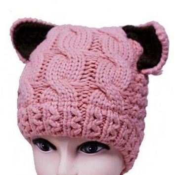 Kit Cat knit Beanie Hat