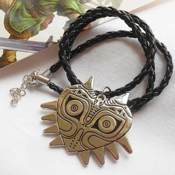 Link Cosplay Majoras Mask Metal Pendant Necklace The Legend of Zelda Jewelry