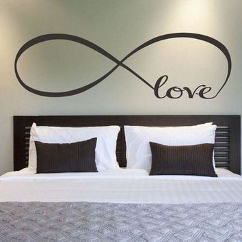 DCCKU7Q 22*60CM/44*120CM Bedroom Wall Stickers Decor Infinity Symbol Word Love Vinyl Art wall sticker decals decoration