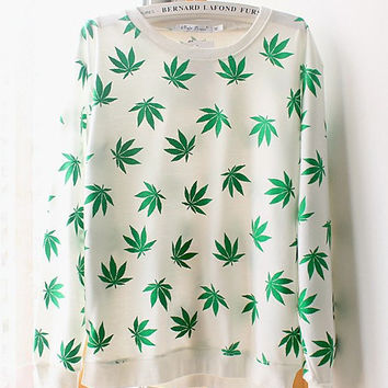 Women's Weed Sweatshirt