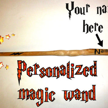 Personalized Harry Potter Wand - Hermione Granger's Wand - Dumbledore's Wand - Harry Potter, Ron Weasley, Hermione Granger Magic Wands Wood