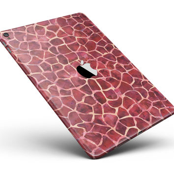 "Red Watercolor Giraffe Pattern Full Body Skin for the iPad Pro (12.9"" or 9.7"" available)"