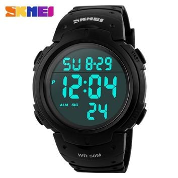 Fashion Men Sports Watches skmei Brand LED Electronic Digital Watch 50M Waterproof Outdoor Dress Wristwatches Military Watch