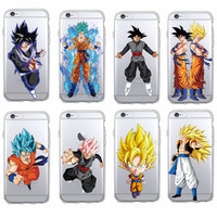 Manga Comics Dragon Ball Saiyan Goku Vegetto Gohan Soft Phone Case Fundas Coque For iPhone 7 7Plus 6 6S 6Plus 5 5S SE SAMSUNG