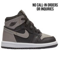 Jordan Retro 1 High OG - Boys' Toddler - Boys' Toddler - Shoes - Basketball - Casual Basketball Sneakers - Jordan - Casual - Black/Medium Grey/White | Kids Foot Locker