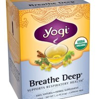Yogi Teas Breathe Deep, 16 Count (Pack of 6)